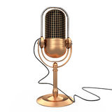 Isolated microphone, 3D vector illustration