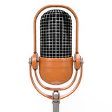 Isolated microphone, 3D Royalty Free Stock Image