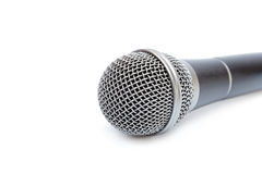 Isolated Microphone On A White Background Royalty Free Stock Photography