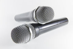 Isolated microphone on white background Stock Photo