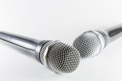 Isolated microphones on white background Stock Photography