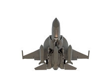 Isolated military jet Royalty Free Stock Photography