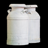 Isolated Milk Tank. S on black stock images