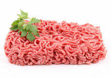 Isolated minced beef Royalty Free Stock Image