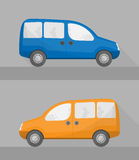 Isolated mini wagon cars in flat style Stock Image