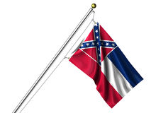 Isolated Mississippi Flag Stock Photo