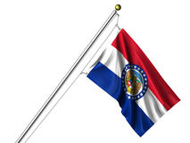 Isolated Missouri Flag Royalty Free Stock Photography