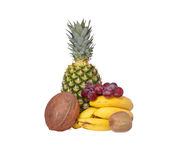 Isolated mix of fruits. Isolated Isolated mix of fruits with white background royalty free stock photos