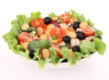 Isolated mixed salad Royalty Free Stock Photography
