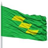 Isolated Miyazaki Japan Prefecture Flag on Flagpole Royalty Free Stock Photo