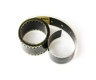 Isolated 8mm film tape Stock Images