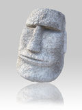 Isolated Moai Face Royalty Free Stock Photo