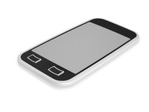 Isolated mobile phone. 3d visualization of isolated mobile phone with touch screen vector illustration