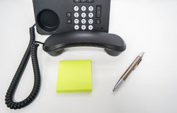Isolated mock up postit for IP phone leaving message royalty free stock image
