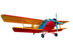 Isolated model of old time vintage russian soviet airplane or pl Stock Images