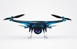 Isolated modern camera drone Royalty Free Stock Photo
