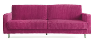 Isolated modern couch. Image of an isolated modern couch Royalty Free Stock Photography