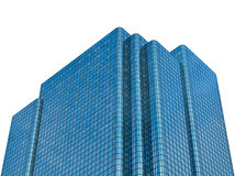 Isolated Modern Glass Office Building Royalty Free Stock Photography
