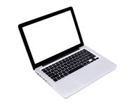 Isolated modern laptop Stock Image
