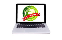 Isolated modern laptop Royalty Free Stock Photos