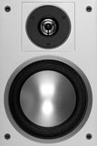 Isolated modern loudspeaker. Front shot Stock Image