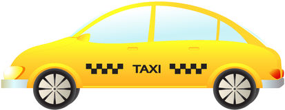 Isolated modern taxi car Royalty Free Stock Photography