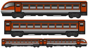 Isolated modern train Stock Images
