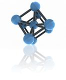 Isolated molecule Royalty Free Stock Image