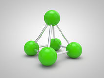 Isolated molecule 3d Royalty Free Stock Images