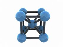 Isolated molecule - 3d render. On white background Royalty Free Stock Photos