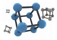 Isolated molecule. 3d render - set Royalty Free Stock Photos
