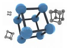 Isolated molecule Royalty Free Stock Photos