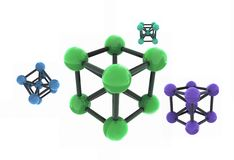 Isolated molecule. 3d render - set Stock Photos