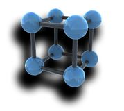Isolated molecule with shadow Stock Photo