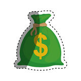 Isolated money bag. Icon  illustration graphic design Royalty Free Stock Photography