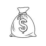 Isolated money bag. Icon  illustration graphic design Royalty Free Stock Photo