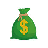 Isolated money bag. Icon  illustration graphic design Stock Image