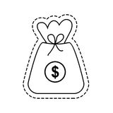 Isolated money bag. Icon vector illustration graphic design Stock Photo