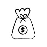 Isolated money bag. Icon vector illustration graphic design Royalty Free Stock Images