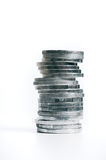 Isolated money tower Stock Photo