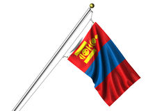 Isolated Mongolian Flag Royalty Free Stock Photos