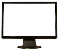 Isolated monitor or flat screen tv. A monitor isolated for your own background and screen shot Royalty Free Stock Image
