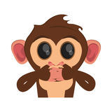 Isolated monkey cartoon design. Monkey cartoon icon. Animal wildlife ape and primate theme. Isolated design. Vector illustration Stock Image