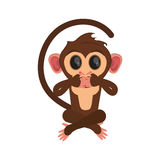 Isolated monkey cartoon design. Monkey cartoon icon. Animal wildlife ape and primate theme. Isolated design. Vector illustration Royalty Free Stock Photo