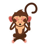 Isolated monkey cartoon design. Monkey cartoon icon. Animal wildlife ape and primate theme. Isolated design. Vector illustration Stock Photo