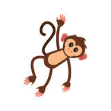Isolated monkey cartoon design. Monkey cartoon icon. Animal wildlife ape and primate theme. Isolated design. Vector illustration Royalty Free Stock Images