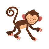 Isolated monkey cartoon design. Monkey cartoon icon. Animal wildlife ape and primate theme. Isolated design. Vector illustration Royalty Free Stock Photos