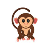 Isolated monkey cartoon design. Monkey cartoon icon. Animal wildlife ape and primate theme. Isolated design. Vector illustration Royalty Free Stock Photography