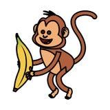 Isolated monkey cartoon design Royalty Free Stock Photography
