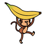Isolated monkey cartoon design Stock Photos